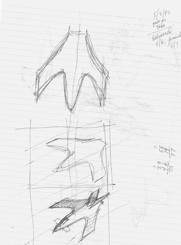 Captain America's Jet study drawings