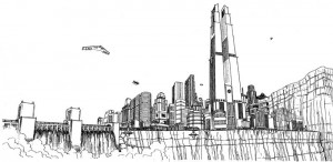 Metropolis City Skyline