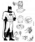 DC Comics' Batman's Batsuit for Wizard Entertainment's 1998 Batman Special A Two Page Centerfold Spread