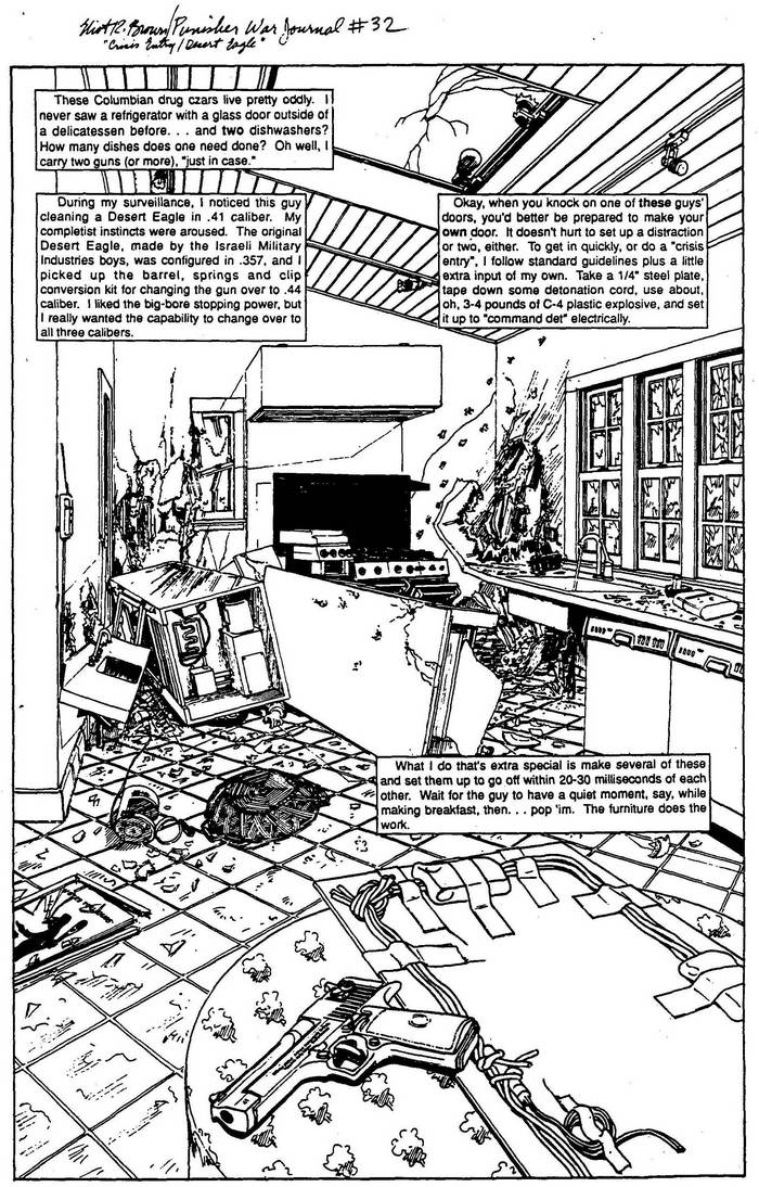 Desert Eagle .41 - The Punisher Armory No. 1, July, 1990, Page 22