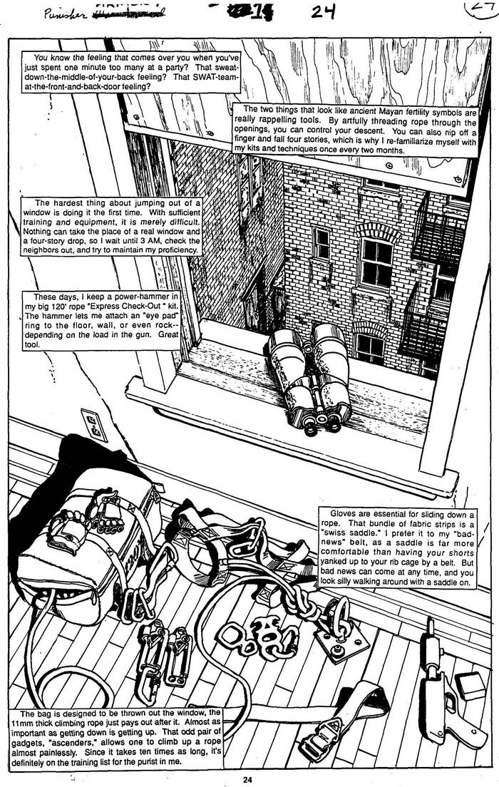 Rappelling Tools - The Punisher Armory No. 1, July, 1990, Page 24