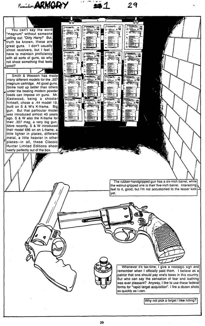 Smith & Wesson .357 - The Punisher Armory No. 1, July, 1990, Page 29