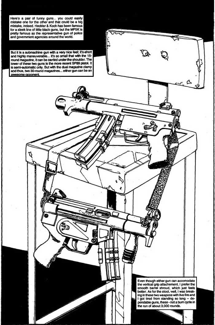 MP5K and SP89 - The Punisher Armory No. 2, June, 1991, Page 5