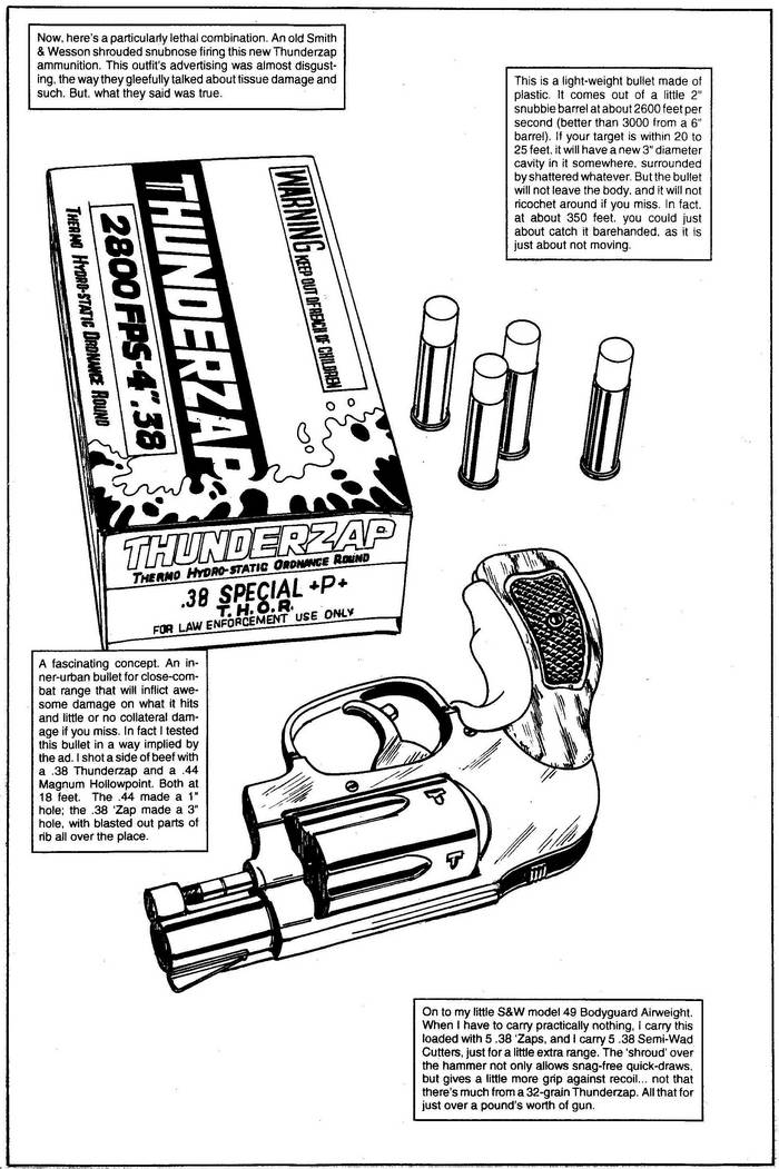 S&W Subnose & Thunderzap - The Punisher Armory No. 2, June, 1991, Page 7
