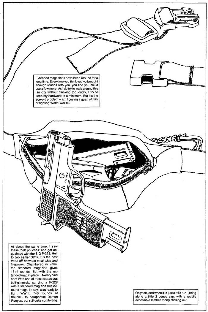 SIG P-228 - The Punisher Armory No. 2, June, 1991, Page 16