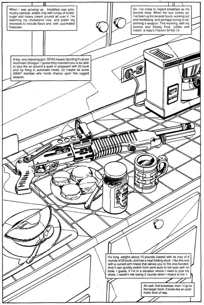 Franchi SPAS-12 - The Punisher Armory No. 2, June, 1991, Page 17