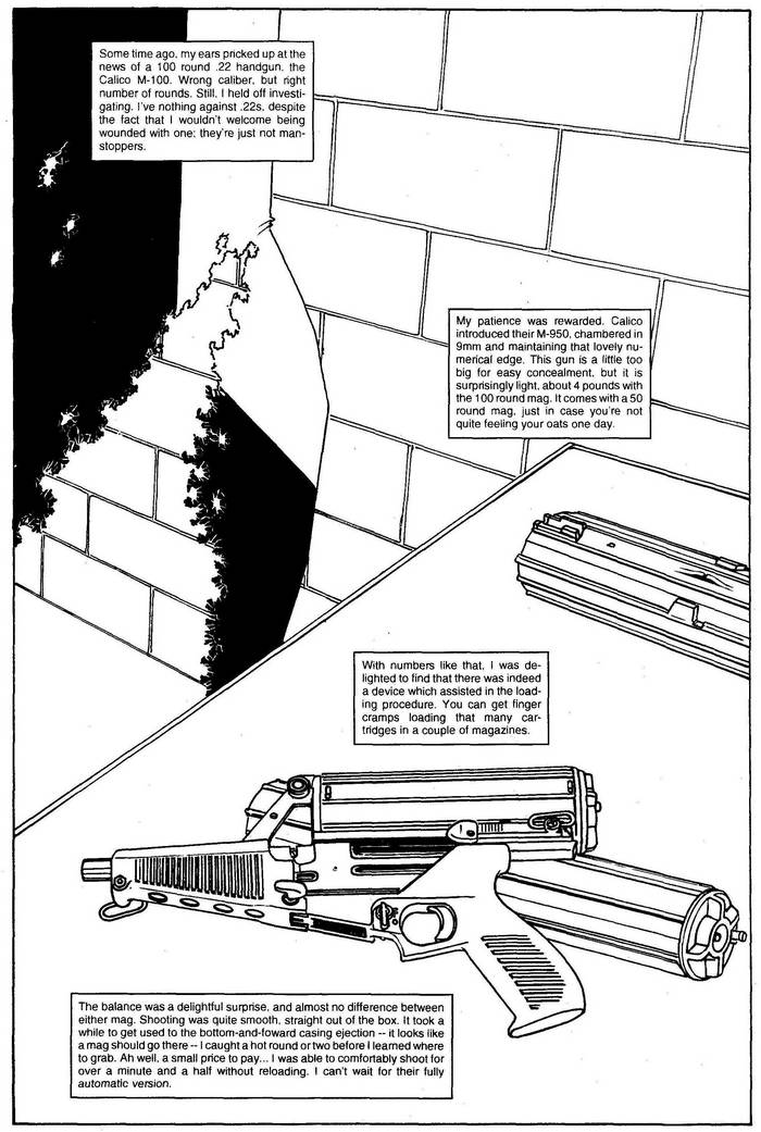 Calico M-950 - The Punisher Armory No. 2, June, 1991, Page 21