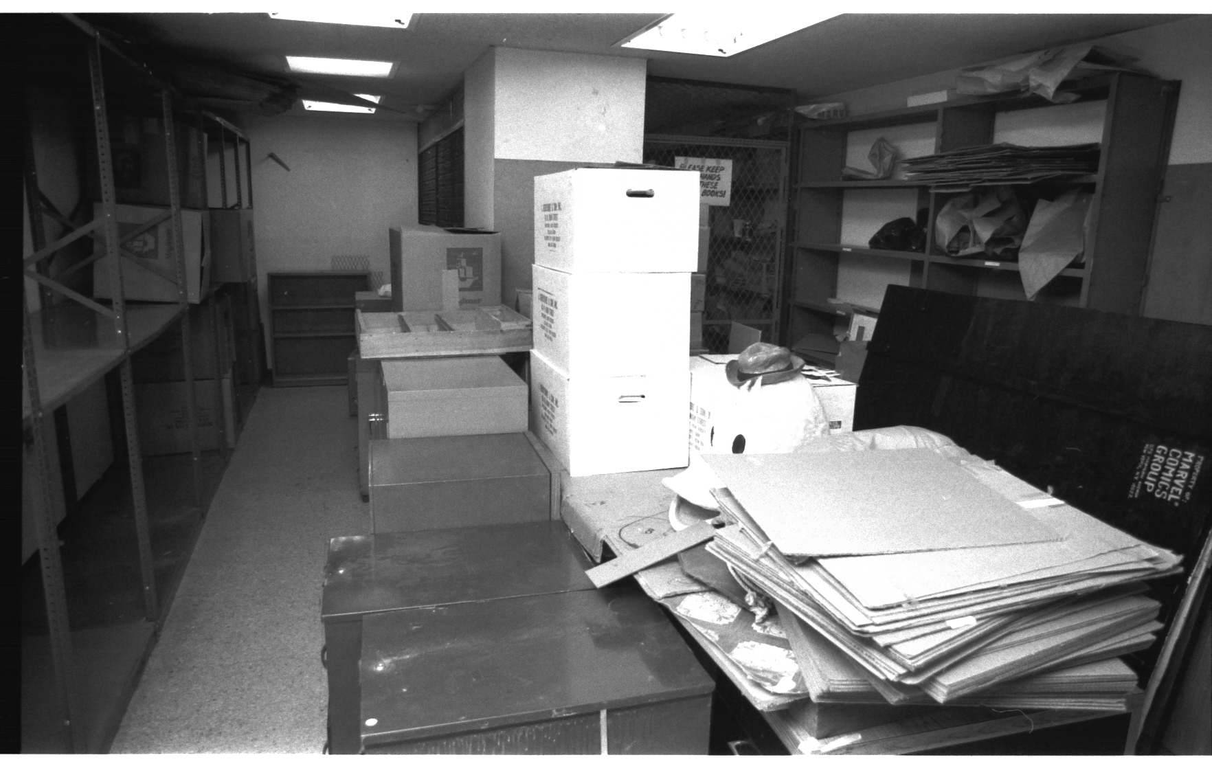 And a better exposed shot of the 9th Floor mailroom. Things were being moved out at this point!