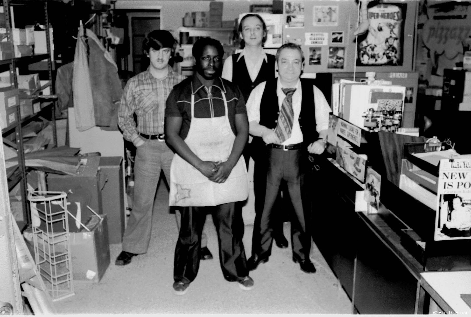 Marvel generated a LOT of mail. These guys made it all move. L-R: John Galvin, Poppy Lopez, Mike Kudzinowski and Tony Cerniglia.