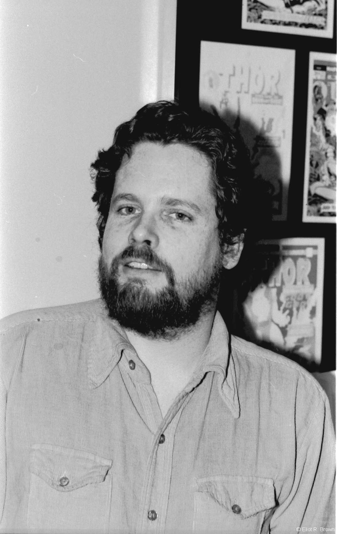 Ed Hannigan-- not on-staff while I was there, but always in the Bullpen. Ed was a penciler but in my opinion, a very clever cover designer. He did a ton of designs that integrated characters or action and the logos (title artwork). Ed also designed the look for the Marvel Universe covers-- it was he who designed them to all fit together into one big poster!