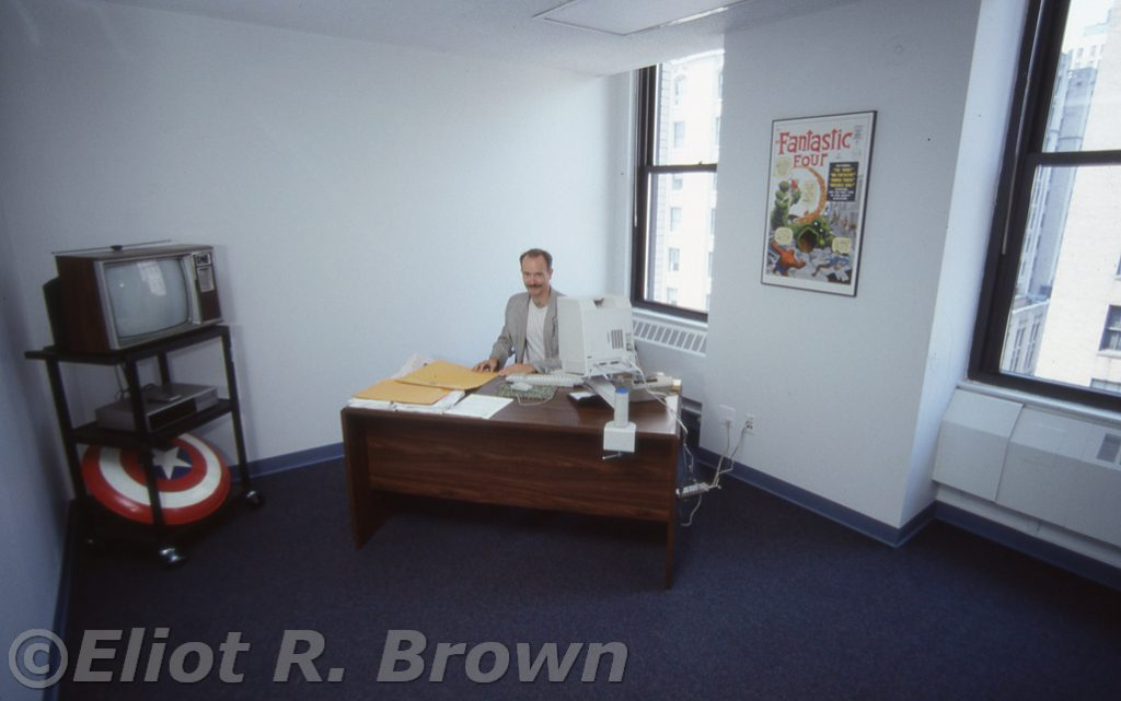 Marvel Returns to 10Flr 387_14Executive Editor Mark Gruenwald flexing his Power Office concept.