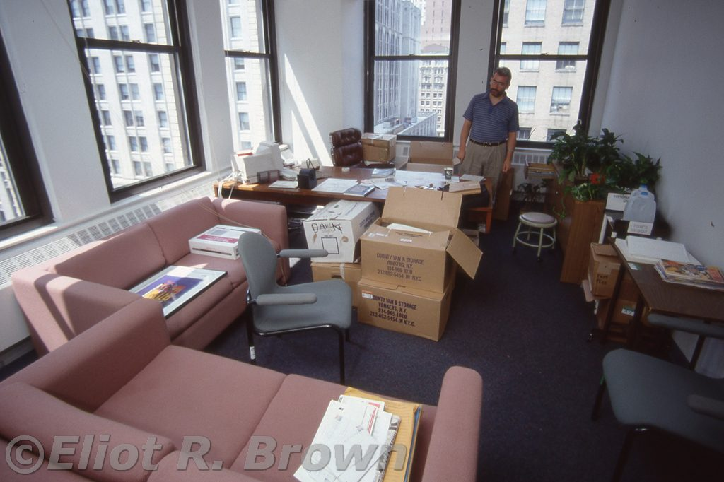 Editor in Chief Tom DeFalco and his expansive corner office!