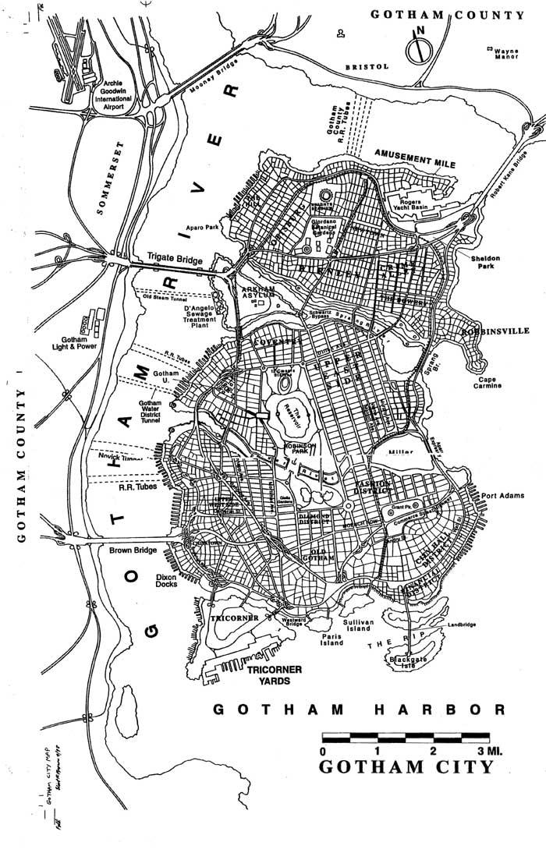 Gotham City Map | Eliot R. Brown.com